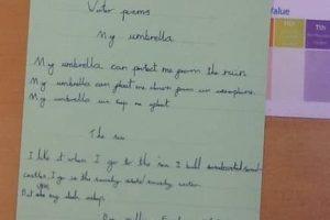 Y4 Writing Poems WF