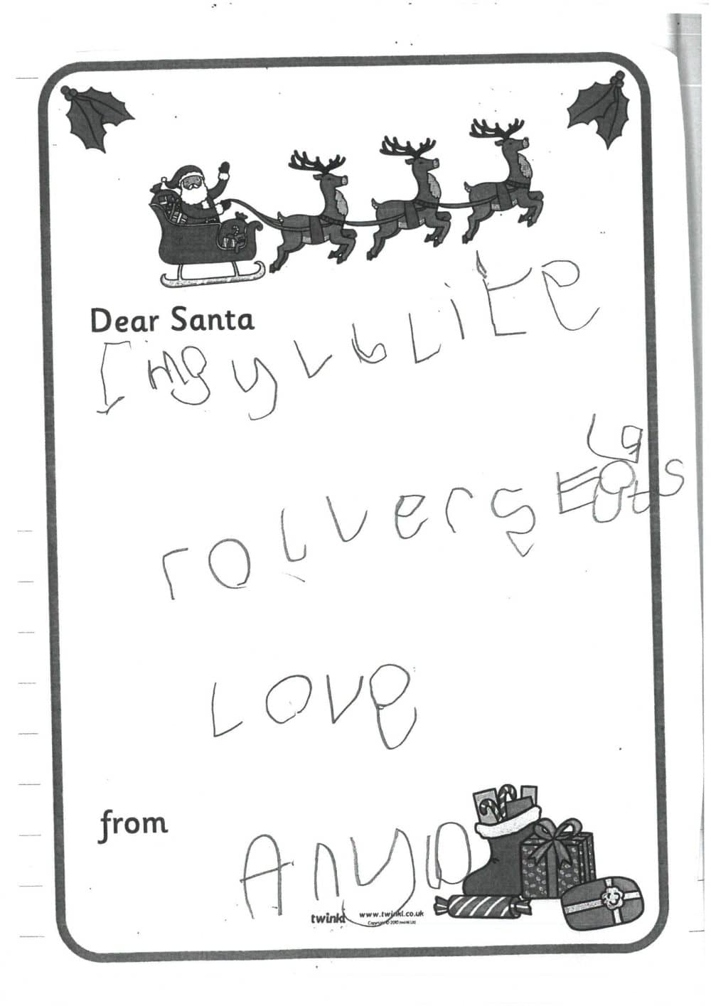 Reception letters to father christmas brabyns preparatory school reception santa letters 2 spiritdancerdesigns Images
