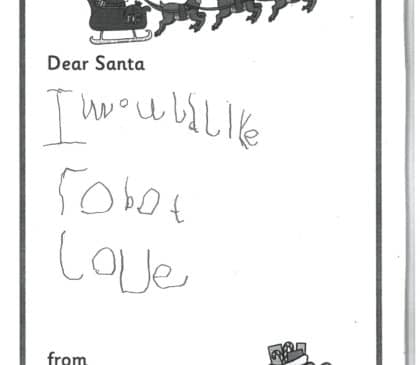 Reception - Letters to Father Christmas