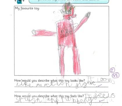 Year 1 Describe their Favourite Toy