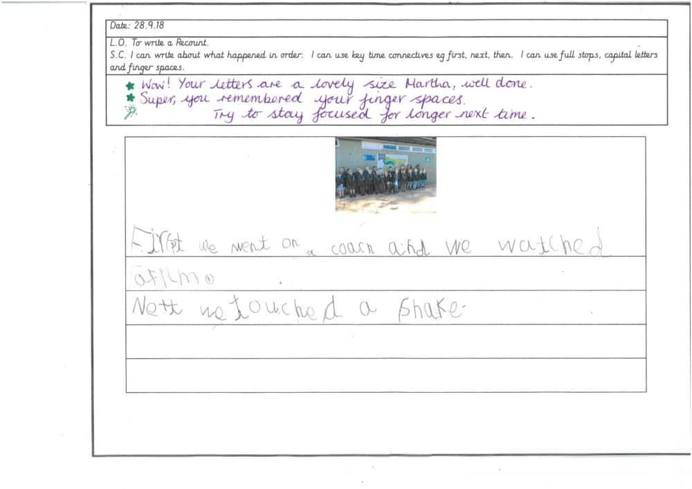 Year 1 Independent Writing | Brabyns Preparatory School