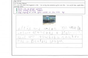 Y1 Independent writing 11