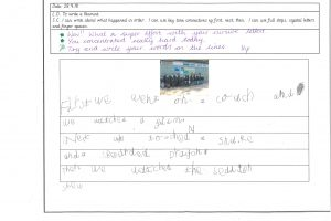 Y1 Independent writing 4