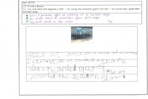Y1 Independent writing 9