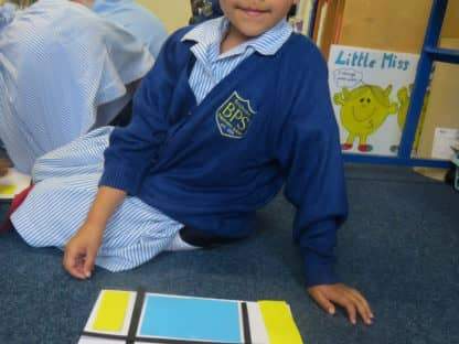Year 2 learn about the artist Piet Mondrian