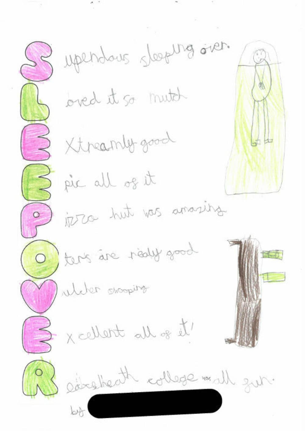 Year 2 Acrostic Poems Brabyns Preparatory School