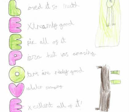 Year 2 Acrostic Poems