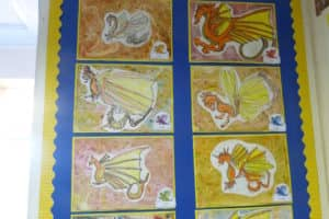 Year 3 Dragon Artwork