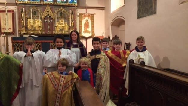 Year 5 and Reception 'Buddies' Church Visit