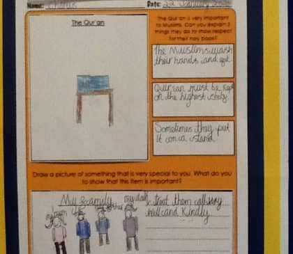 Year 5 learn about the Muslim faith