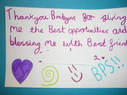 Year 6 Leavers' Messages