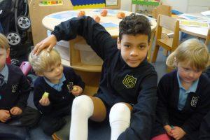 Helping out at Nursery break 3
