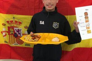 SA Spanish lunch menu