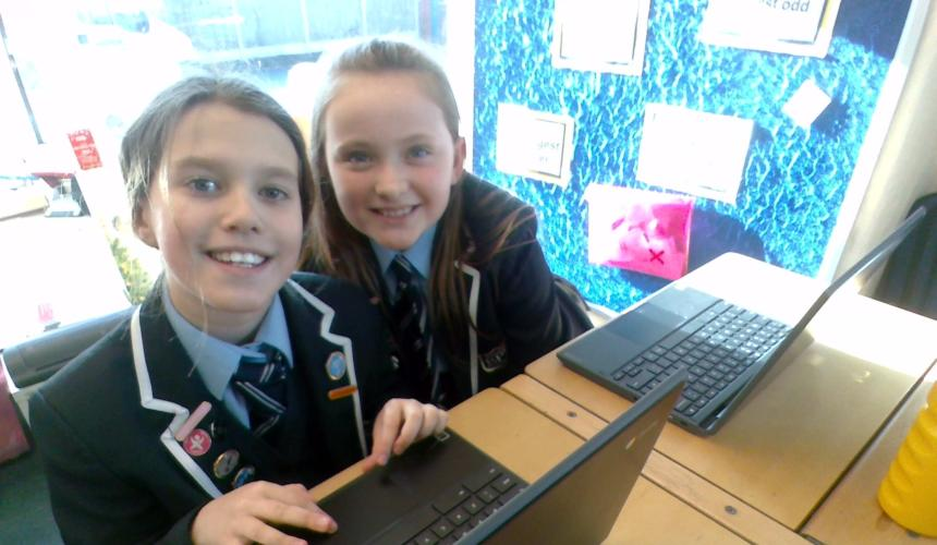 Chromebooks enhance learning in Year 5