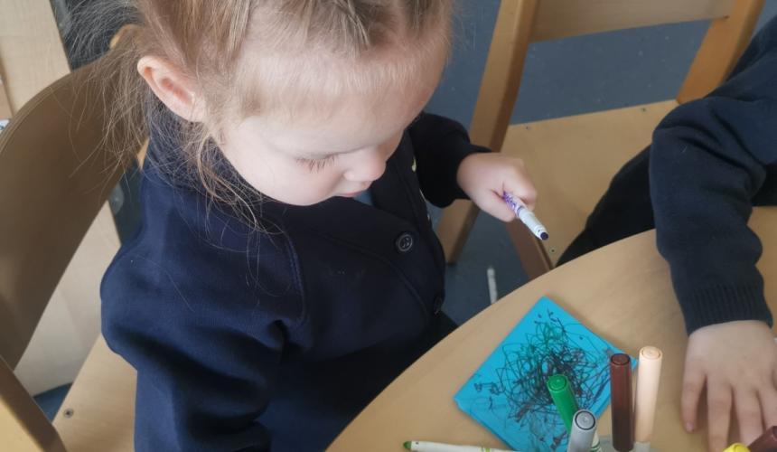 Mark Making in Nursery