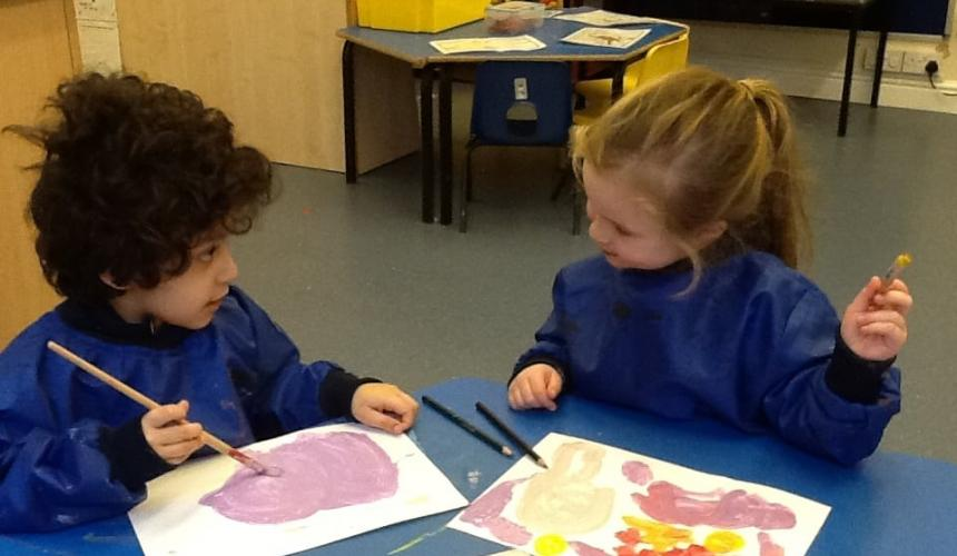 Reception Blast Into Space for a Maths Experience