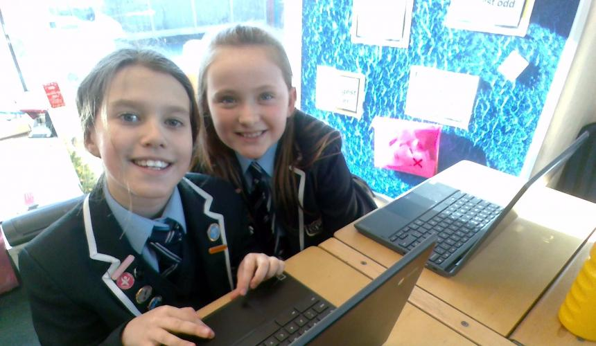 Chromebooks enhance learning in Year 5