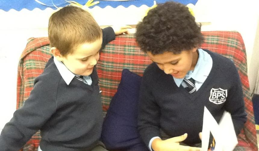 Year 6 Pupils Nurture Brabyns Youngest Children
